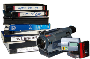 vhs video tapes and camcorder tapes