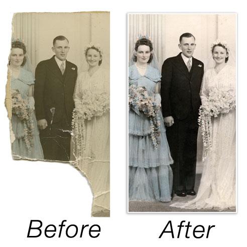 Digital Photo Restoration - before & after