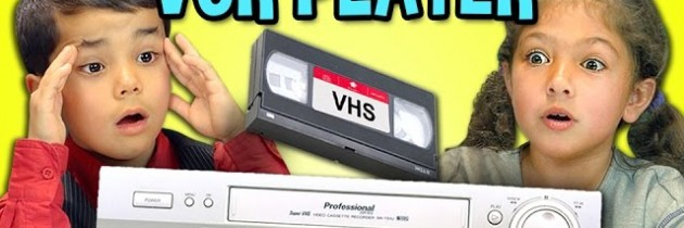 Hilarious video of kids reacting to VCRs and VHS video tapes
