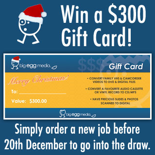 Win a $300 Gift Card! Simply order a new job before 20th December to go into the draw.