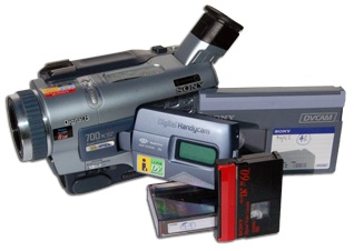 Camcorder Camera and Video Tapes