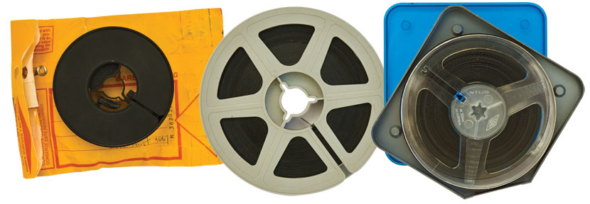 Super 8 movie film reels